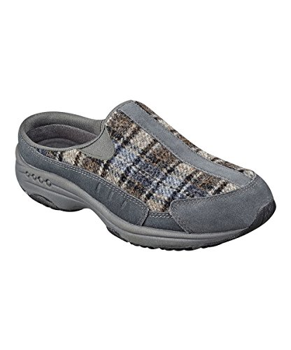 - Easy Spirit Womens TravelTime Dark Grey Clog, Size 7.5W US