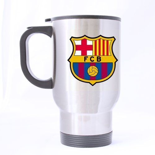 LaHuo FC Barcelona Logo Custom Design Stainless Steel Coffee Mug Car Travel Water Bottle Tea Cup 14 OZ