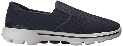Skechers Herren GO Walk 3 Charge Sneakers, Blau (NVGY), 44.5 EU