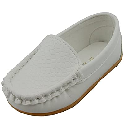 DADAWEN Boy's Girl's Slip-on Loafers Oxford Shoes
