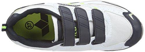 Lico Nelson V 120076 - Zapatillas de deporte para hombre Blanco (Weiss/marine/lemon)