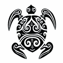 Tribal Turtle Temporary Tattoo (3-Pack) #1110 -