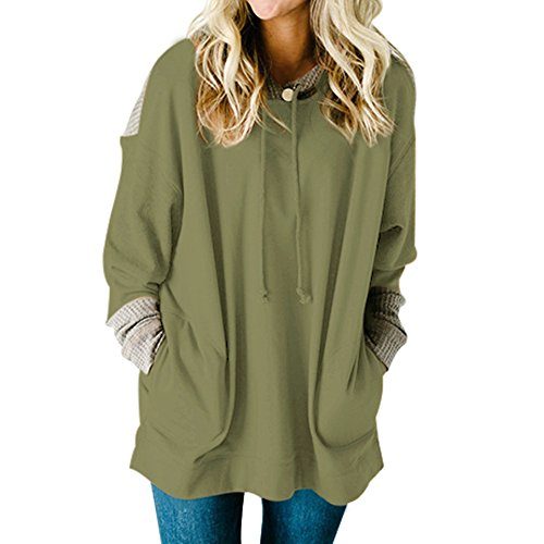 - MuCoo Women's Oversized Fit Long Sleeve Knit Colorblock Top Pullover Hooded Sweatshirt XXL