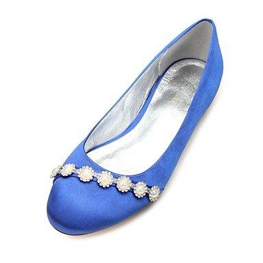 CN44 Satin Shoes Plana Mujeres'S amp;Amp; US11 UK9 Wedding Verano Vestido Heelivory Las Champán Rhinestone Bowknot Rubí Azul Noche Primavera De Boda Confort EU43 xqgaBawI