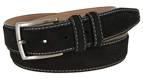 - Granada Men's 100% Suede Nubuck Leather Dress Belt 1-3/8