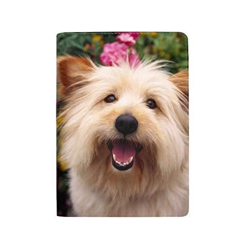 Wlioohhgs Travel Passport Cover Case with Storage Pocket, Cairn Terrier Dog 5.51 INCH ()