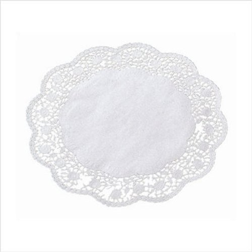 Paderno World Cuisine Paper Doilies, 16-1/2 Inch, Pack of 100