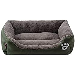10 Colors Paw Pet Sofa Dog Beds Waterproof Bottom Warm Cat Bed Mats House Petshop,deep Green,XXL