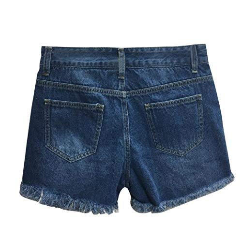 Rasgados Pantalones Mezclilla Jeans Moda Sexy Borla Mujer Blau Casuales Sesy Azul Vaqueros De Mujeres Cortos Señoras m Twq7vxd7