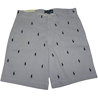 Polo by Ralph Lauren Mens All Over Pony Prospect Shorts Blue/White (42) hot sale