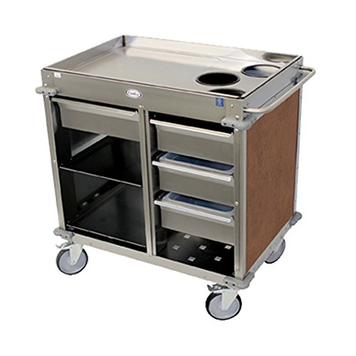 (Cadco BC-4-L1 MobileServ Beverage Cart with (3) Airpot Wells)