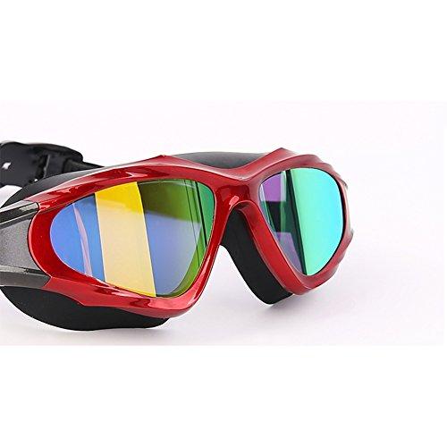 Opcional Espejo Impermeable Multicolor HD Natación De E Red Plano Unisex Gafas 1 Antivaho QY AavqBt