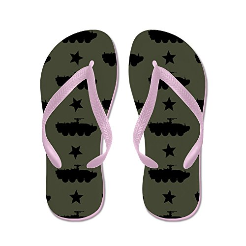 CafePress M1126 Stryker Combat Vehicle Pattern (M - Flip Flops, Funny Thong Sandals, Beach Sandals Pink