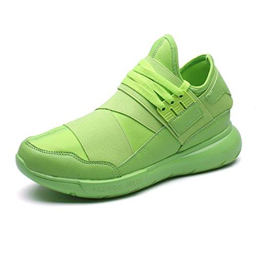 LanFengeu Herren Sportschuhe Tragene Dicke Sohle Freizeit Dämpfung Niedrig Mehrfarbig Bequeme Aktuelle Sneakers Grün