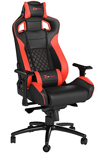 Thermaltake Tt eSPORTS GT Fit F100 Racing Bucket Seat Style Ergonomic Gaming Chair Black/Red GC-GTF-BRMFDL-01