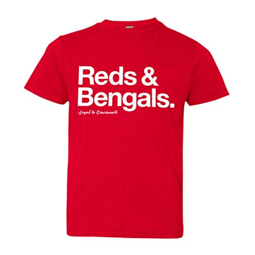 Youth Loyal Reds Bengals Baseball Football Ohio Soft HQ Tee Red-M