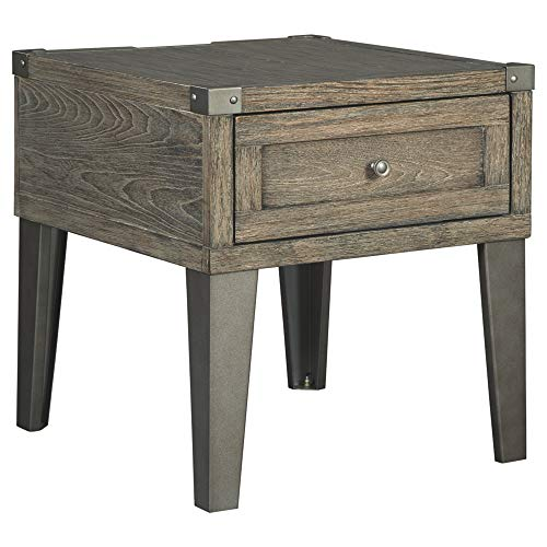 Signature Design by Ashley Chazney Rectangular End Table Rustic Brown