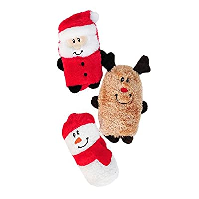 ZippyPaws - Halloween Squeakie Buddies Squeaky No Stuffing Plush Dog Toy - 3-Pack