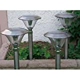 Stainless Steel Solar Jumbo Sierra Lights, Set of 4