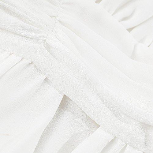 Gasa Cintura Blanca Playa falda White Xuanytp De La Resort Alta Vestido qBwnEI