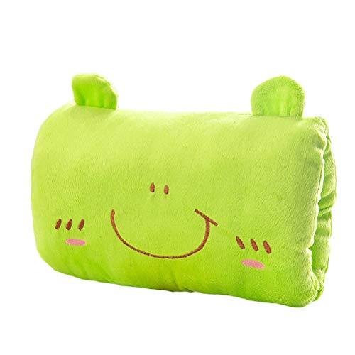 YeahiBaby Cute Cartoon Plush Stuffed Animal Frog Toys Throw Pillow Hand Warmer Pillow Soft Hand Warmer Cushion - Frog Stuffed Animal Pillow