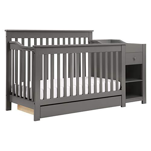 - DaVinci Piedmont 4-in-1 Crib & Changer Combo, Slate