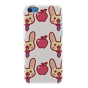 Conejos y patrón de Apple caso duro para el iPhone 5C