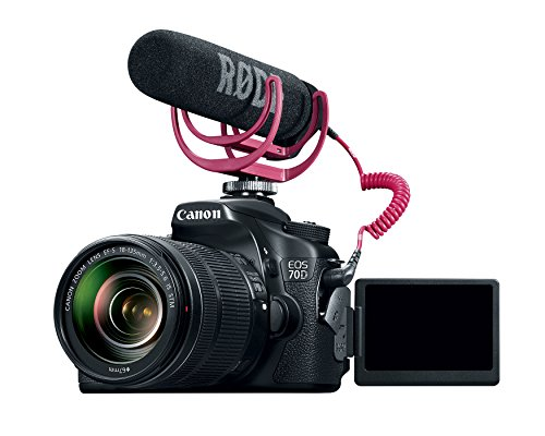 Canon EOS 70D Video Creator Kit with 18-135mm Lens, Rode VIDEOMIC GO and Sandisk 32GB SD Card Class 10 - Wi-Fi Enabled