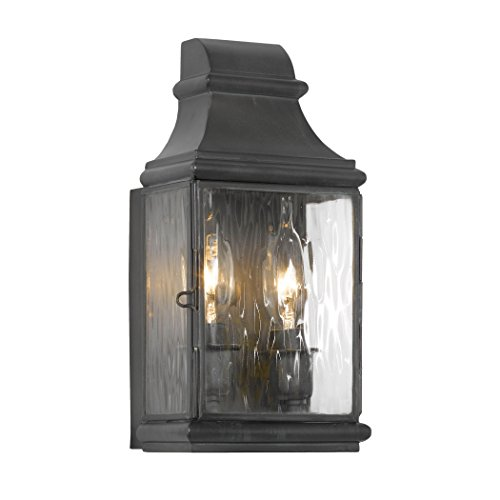 Outdoor Wall Lantern Jefferson Collection In Solid Brass In A Charcoal Finish