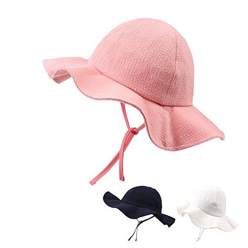 XIAOHAWANG Baby Girls Hats Kids Sun Caps Toddlers Bonnet Cotton Bucket Hat