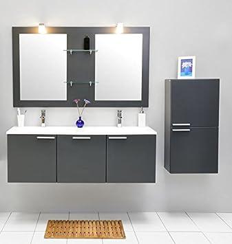 Ensemble de mobilier de Salle de Bain avec lavabo Double ...