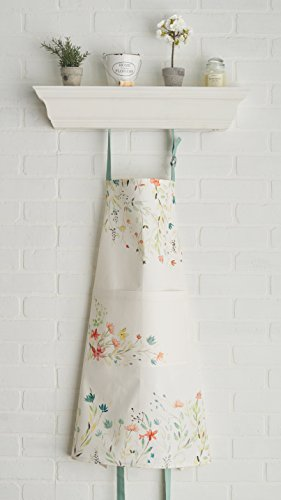 Maison d' Hermine Colmar 100% Cotton Apron with an adjustable neck & visible center pocket, 27.50 - inch by 31.50 - inch