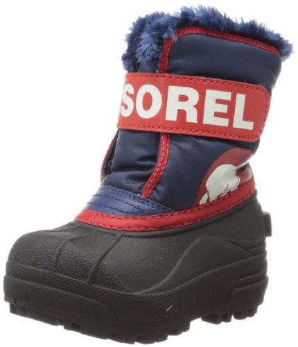 Sorel Snow Commander Unisex-Kinder Ungefütterte Schneestiefel azul - Navy/Rot