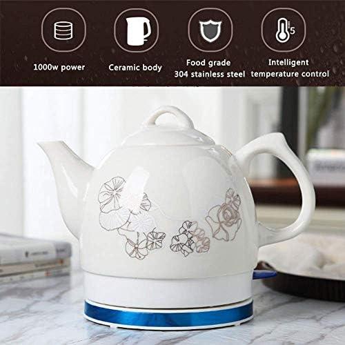 HLJ EleActric céramique Bouilloire sans fil Teapot, 1.0L, 1000W rapide de l'eau for le thé, café, soupe, flocons d'avoine amovible Base, Faire bouillir à sec P
