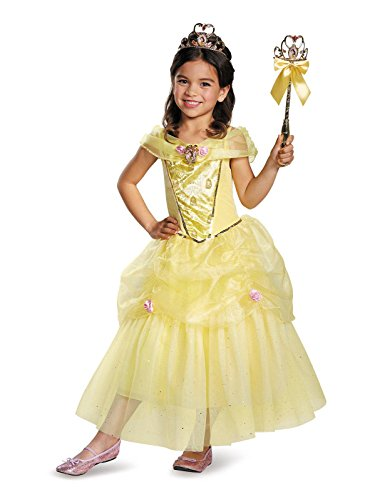 Belle Deluxe Disney Princess Beauty & The Beast Costume, Medium/7-8 ()