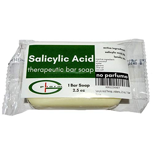 Salicylic Acid Therapeutic Bar Soap, for One Month Prevention of Skin Problems, 2.5 oz, 1 bar (Only - Salicylic Soap Acid