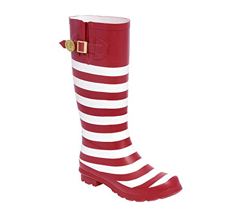 and Initial U Crimson Rainboots Lillybee G White PXE4wwq