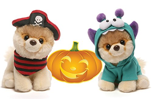 Gund Itty Bitty Boo #032 Pirate and #034 Monsteroo Halloween Special Set of 2 Plush 5