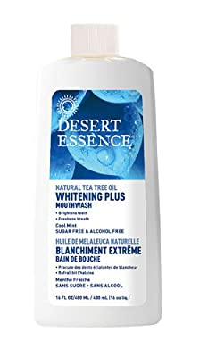 Desert Essence Dental Care Tea Tree Oil Whitening Plus, Cool Mint 16 fl. oz. Mouthwashes (a)