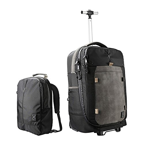 Cabin X ONE - Hybrid Hand luggage Wheeled Trolley/convertible Backpack and Day Bag. Flight approved cabin case (Onyx Black) ()