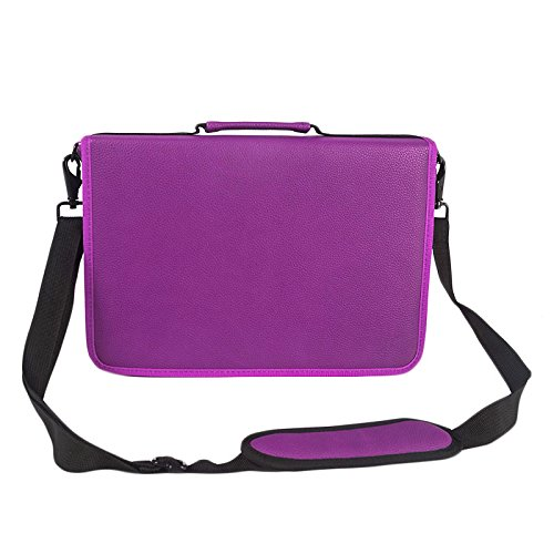 Travel Leather Cosmetic Brush Pen Holder (Purple) - 4