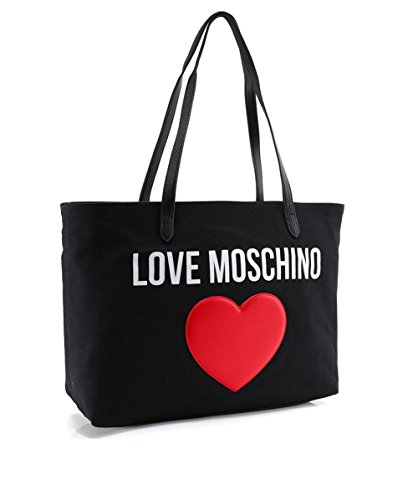 Love Moschino Women's Canvas Logo Shopper Bag Black One Size by Love Moschino (Image #1)'