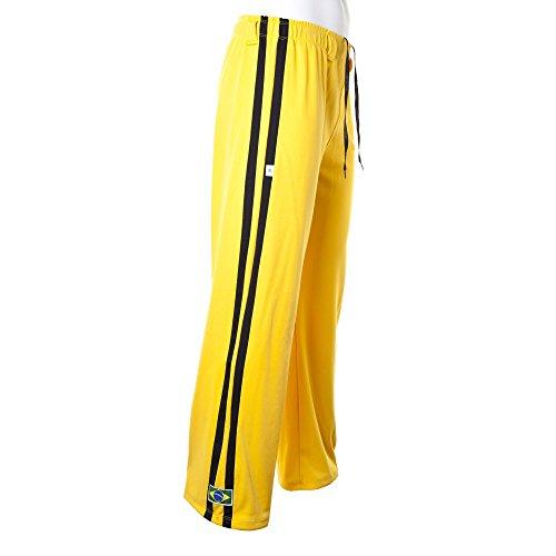 traditionellen Brasilianische Capoeira Hose Unisex Gelb Abada Martial Arts Elastische Pants.