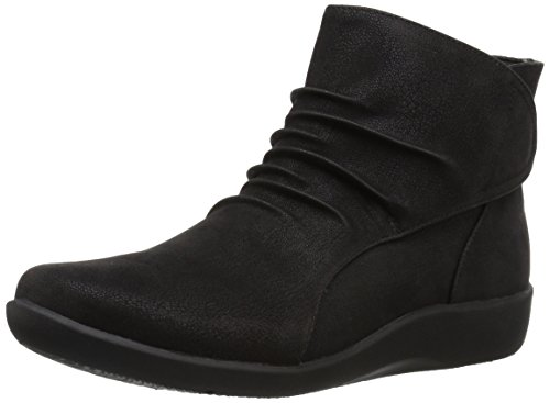 CLARKS Women's Sillian Sway Ankle Bootie, Black, 7.5 M US