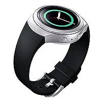 Banda de reloj de estilo deportivo de silicona Lakvom para Samsung Gear S2 - Negro