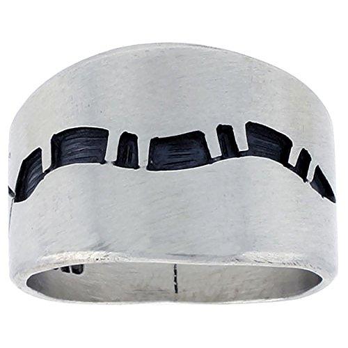 - Sterling Silver Native American Design Snake Ring, size 11