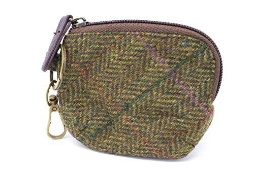 Monedero de Mujer 100% Lana de Tweed Yorkshire con Cierre de ...