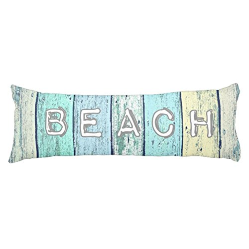UOOPOO Driftwood Beach Polyester Body Pillow Cover Square 20 x 54 Inches for Bed Two Sides