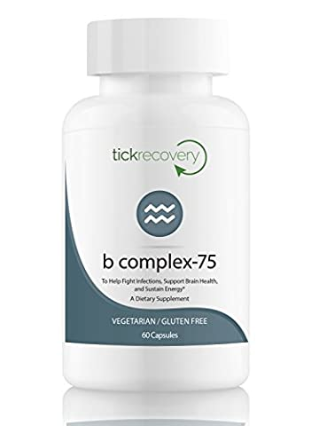 Tick Recovery: B Complex 75, Non-GMO, Vitamin B Designed to Support Energy Levels, Brain Health, Promote a Healthy Cardiovascular System, and More, For People with Tick-Borne - Ortho Garden Disease Control