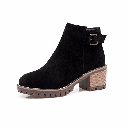 Las en damas cortas botas black otoño qwwvt